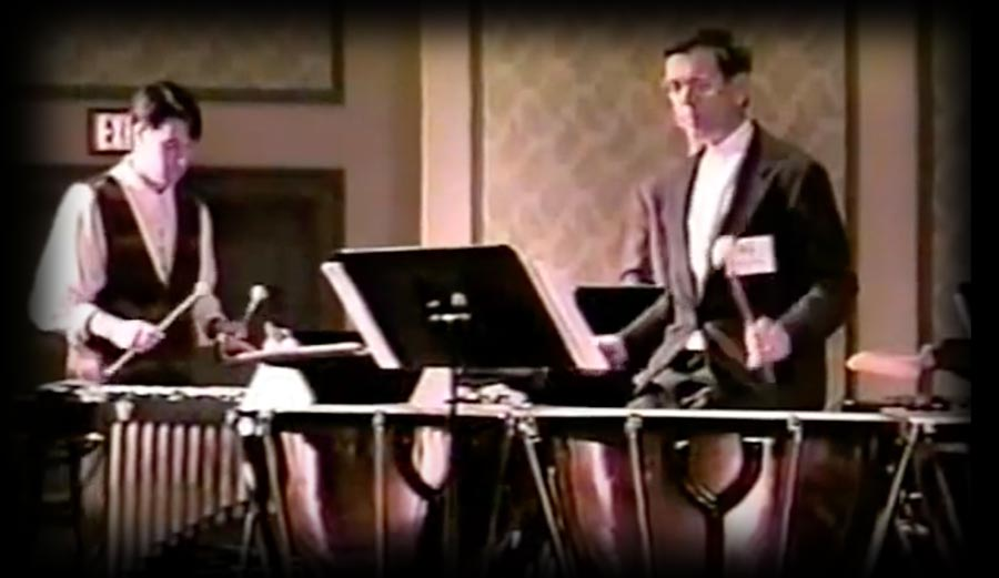 Stanley Leonard Playing Timpanis